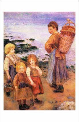 Qui a peint 'Les pêcheuses de moules à Berneval' ?