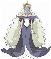 Qui est le personnage, qui joue le rôle la reine des sorcières dans le monde des humains?