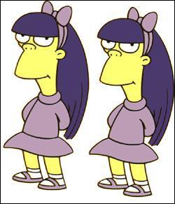 Comment s'appellent les jumelles aux cheveux mauves ?
