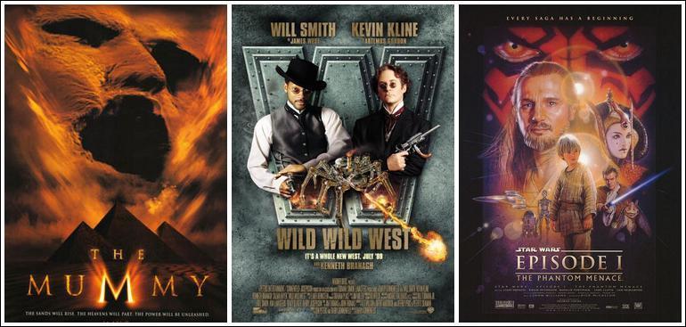 Lequel de ces blockbuster de l'année 1999 n'est pas sortie durant l'été en France ?