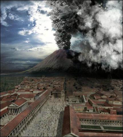 Quelle ville n'a pas été détruite dans l'éruption du Vésuve, en 79 de notre ère ?