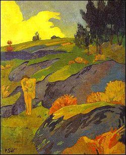 Quel peintre ayant fondé le groupe des Nabis a réalisé 'Eve bretonne ou mélancolie' ?