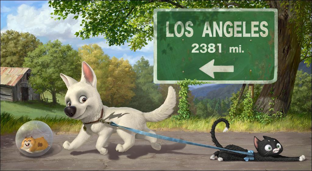 'Une star de télévision canine se retrouve dans l'un des coins les plus abandonné du Nevada avec un lapin géant et un chat irritable. ' Mais de quel film s'agit-il ?