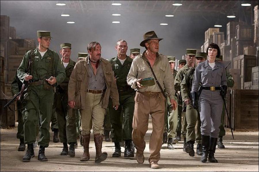 De quel entrepot secret sagit-il au début d'Indiana Jones et le royaume du crâne de cristal ?