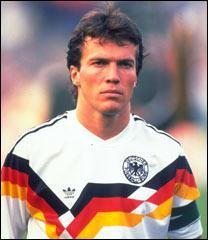 Grand meneur de jeu et buteur de la sélection ouest-allemande de 1990, c'est ?