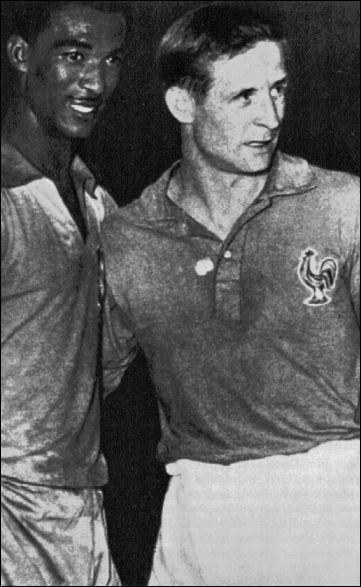Qui est à côté du brésilien Didi, 1er Ballon d'Or français grâce à la coupe du monde 1958 ?