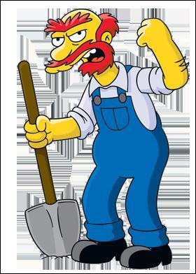 Qui est l'homme d'entretien et concierge d'origine écossaise de l'école élémentaire de Springfield ?