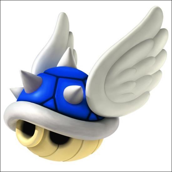 "À quoi sert cette tortue bleue volante dans ""Mario Kart"" ?"
