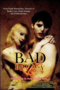 Quel est le titre français et racoleur de Bad Biology, film dont l'heroïne a de serieux problèmes dû à un appetit sexuel débordant ?