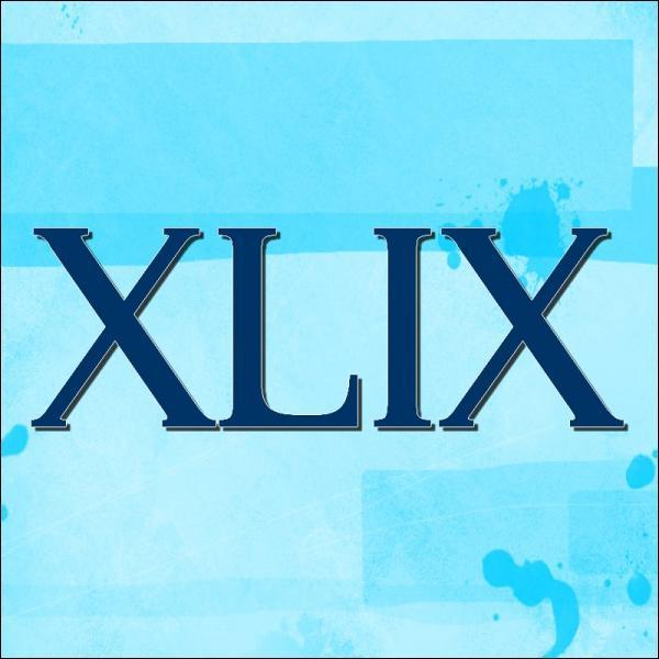 Quand un romain écrit XLIX, cela signifie :