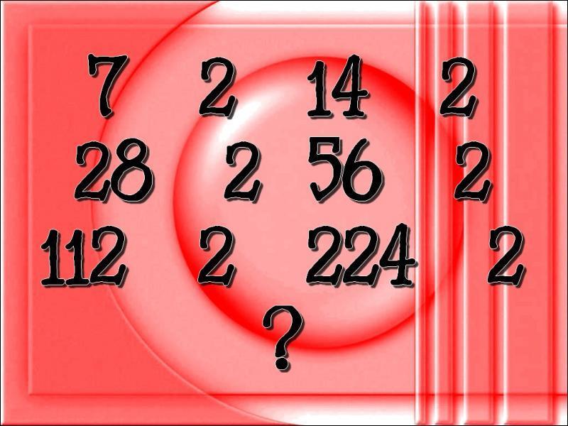 Quel nombre faut-il inscrire à la place du point d'interrogation ?