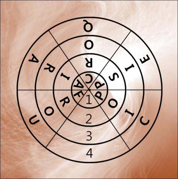 Quel anneau faut-il supprimer pour obtenir cinq mots rayonnant du centre à la périphérie ?