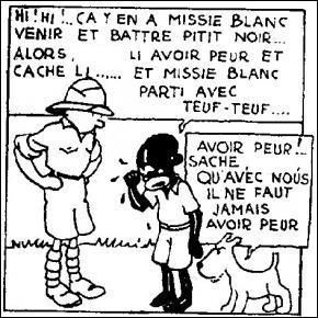 Comment s'appelle le petit congolais qui accompagne Tintin ?
