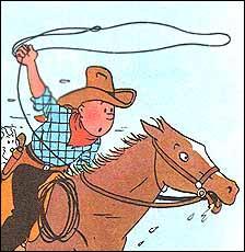 Comment s'appelle la ville du far west où se rend Tintin ?