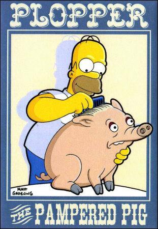 Quels sont les deux prénoms qu'Homer donne à son cochon ?