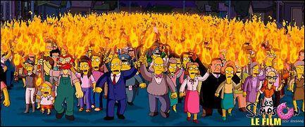 Où les Simpson se réfugient après avoir été chassés de Springfield ?
