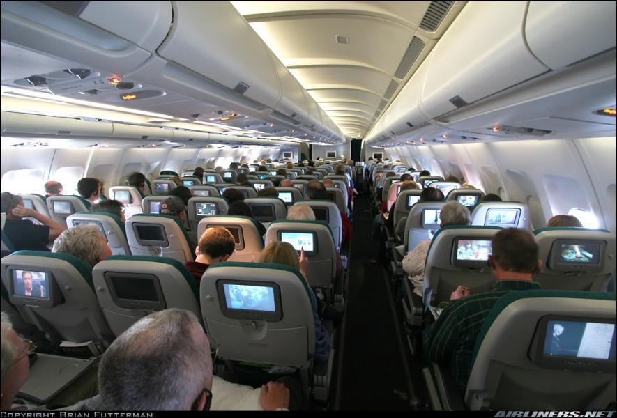 Dans quel avion de Aer Lingus cette photo a-t-elle été prise ?