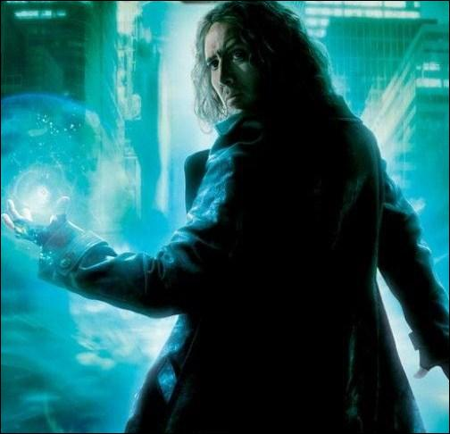 Comment s'appelle le sorcier qui l'y accueille, et qui deviendra plus tard son maître ?