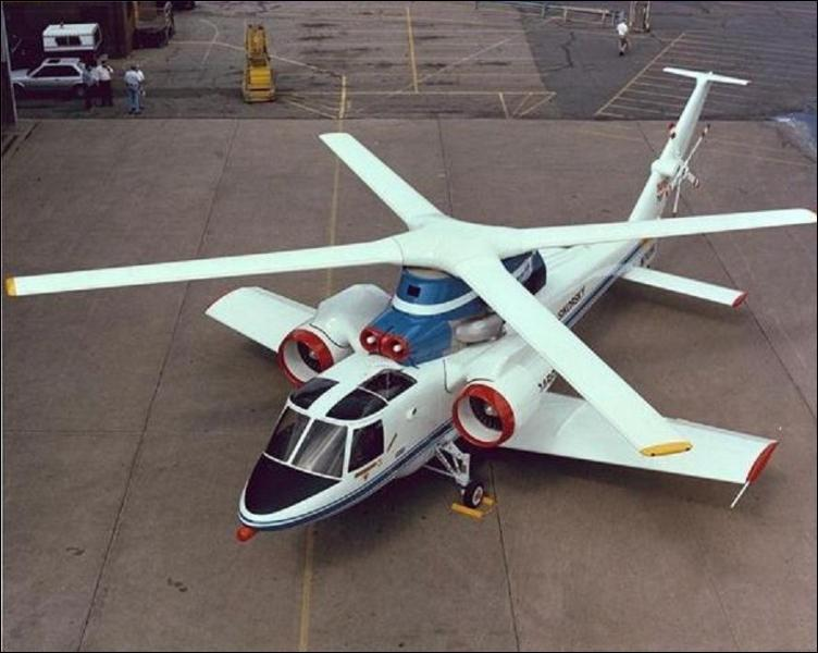 L'helicoptère Sikorsky X-wing expérimental fut ainsi appelé en rapport avec le X-wing ?