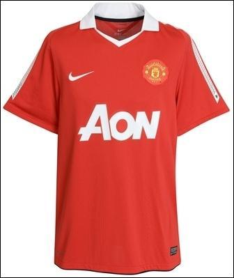 A qui est ce maillot d'une équipe Anglaise ?