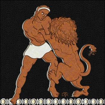 Lors de son combat avec le lion, qu'arriva-t-il à Héraclès ?