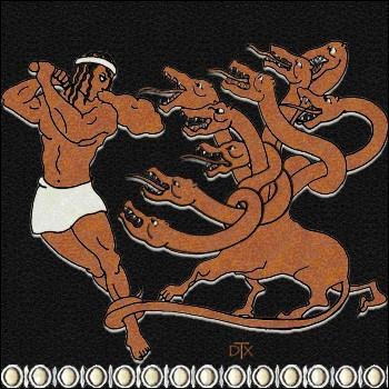 Après avoir coupé toutes les têtes et que Iolas cautérise les plaies au feu, Héraclès enfoui la tête immortelle sous un énorme rocher. Toutefois, Eurysthée contesta son succès. Pourquoi ?