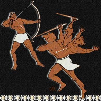 Ayant vent des meurtres commis par Héraclès, le géant Géryon, fils du titan Okéanos, court pour attaquer le héros. Comment ce dernier le tue-t-il ?