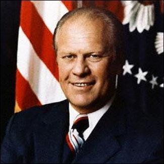 Quelles sont les dates du mandat du président Gerald Ford ?