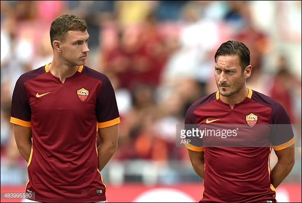 Quel est ce grand buteur, aux cotés de Francesco Totti, arrivé en 2015 ?