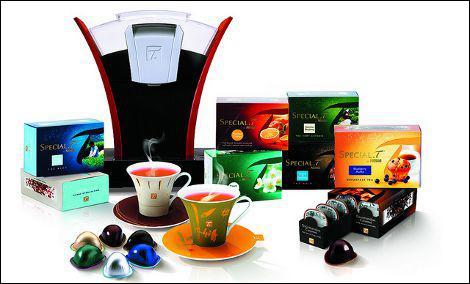 Quel est le prix au kilo proposé par les dosettes à thé de la machine Special T. de Nestlé ?