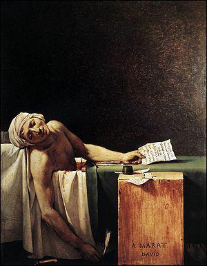 Quel peintre a réalisé 'La mort de Marat' ?