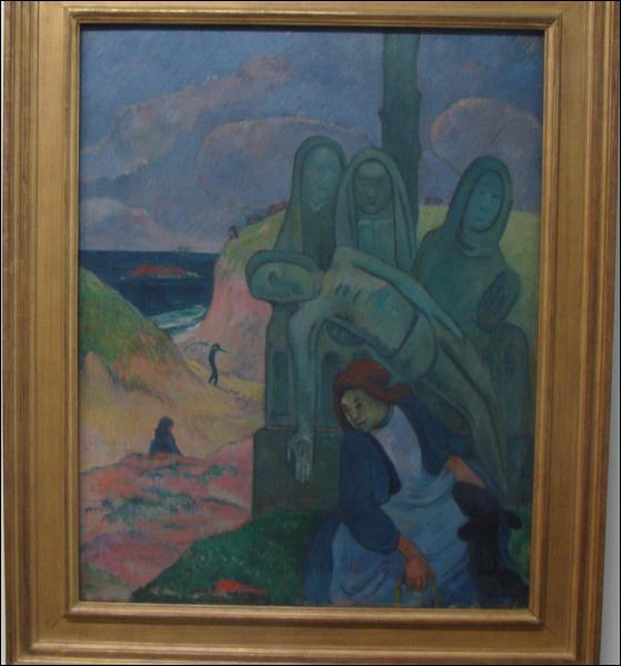 Quel peintre a réalisé 'Le calvaire breton' ?