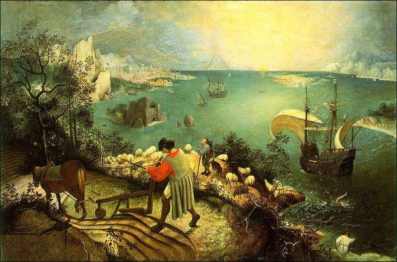Quel peintre a réalisé 'La chute d'Icare' ?