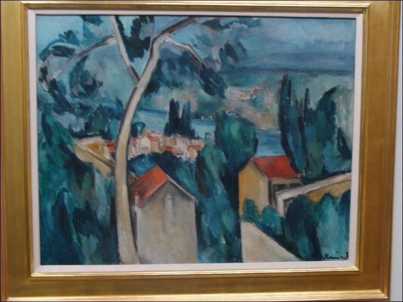 Quel peintre a réalisé 'Paysage, la Seine à Chatou' ?