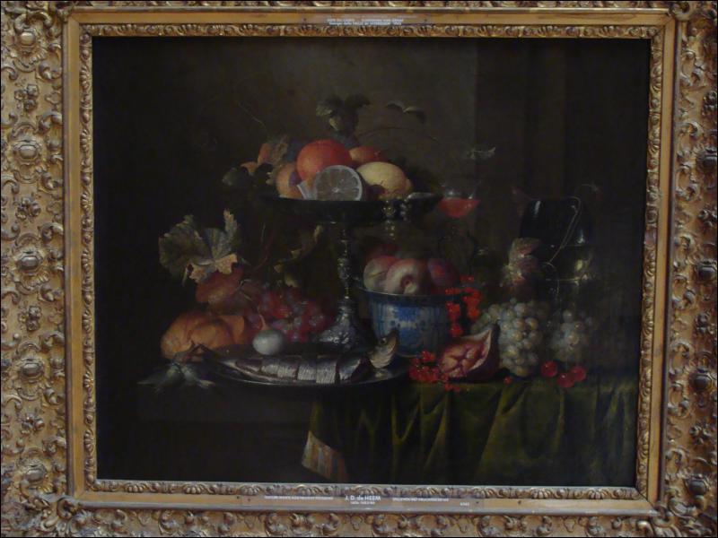 Quel peintre a réalisé 'Nature morte aux fruits et poissons' ?