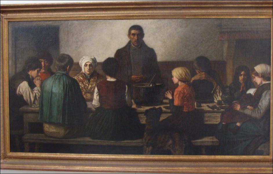 Quel peintre a réalisé 'Le bénédicité' ?
