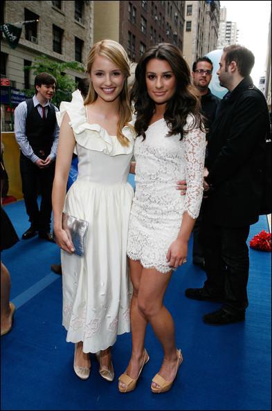Comment s'appellent les actrices qui interprètent Rachel Berry et Quinn Fabray ?