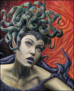 Quel est le nom de la Gorgone au regard mortel ?