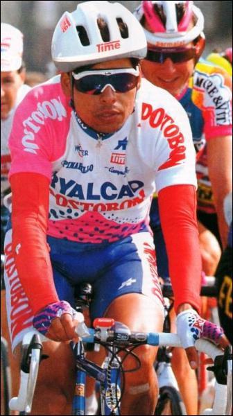 Vainqueur de la Route du Sud, coureur accrocheur et talentueux, il fit les beaux jours de l'équipe Postobon et termina 4ème aux championnats du monde 91 et au Tour de France 93…
