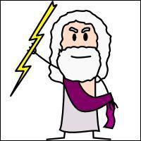 Comment s'appelle l'arme de Zeus, faisceau de dards enflammés en forme de zigzag ?
