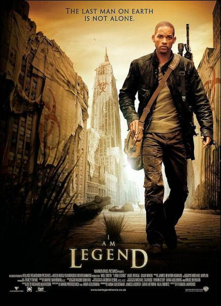 Dans le film ' Je suis une légende ', il est le dernier survivant d'une pandémie qui a transformé les hommes en vampires . Il s'agit de :
