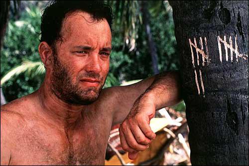 Quel est ce film où Tom Hanks joue le rôle d'une personne victime d'un crash d'avion ?