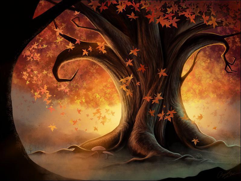 Complétez cette chanson, 'la feuille d'automne emportée par le vent'...