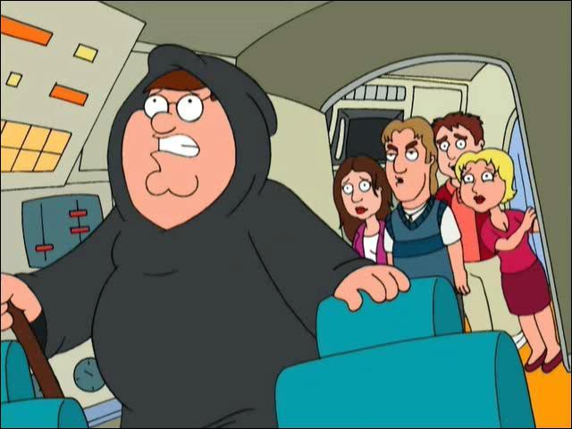 Les acteurs de quelle série est censé liquider Peter Griffin quand celui-ci se voit obligé de remplacer la Mort ?