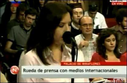 De quoi Hugo Chavez a-t-il accusé une journaliste de RFI ?