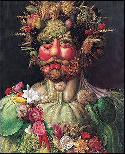 Quel peintre du 16ème siècle a réalisé des portraits composés d'une juxtaposition de fruits, de fleurs ?