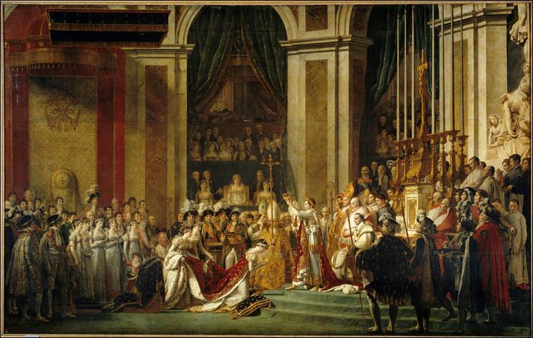 Quel peintre nommé premier peintre de l'empereur Napoléon 1er a représenté le sacre de celui-ci ?