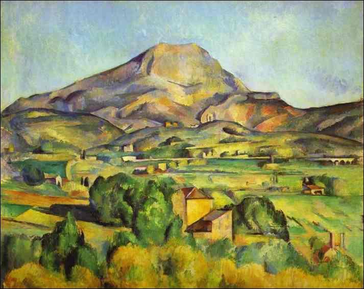 Quel peintre a réalisé une série de tableaux consacrés à la montagne Sainte Victoire ?