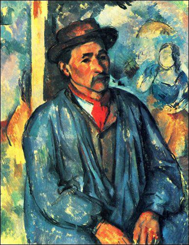 Qui a peint Le fermier en blouse bleue ?