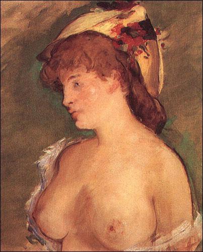 Qui a peint Femme blonde aux seins nus ?